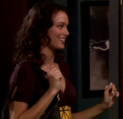 Deanna Russo busty cleavage on CBS' HOW I MET YOUR MOTHER (3 caps)