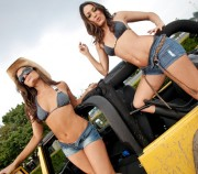 The Bella Twins *Nikki & Brie*: Divas 365 Carwash Shoot (x9 Pics)