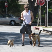 Kellan Lutz walking his dogs July 23rd 10d11d89843983